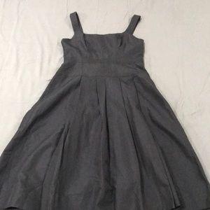 Black flattering to figure J Crew dress